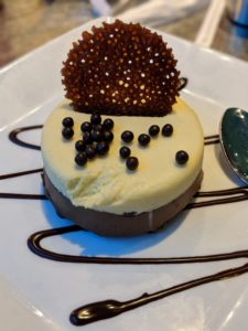 Bailey and Jack Daniels mousse from Coral Reef Restaurant
