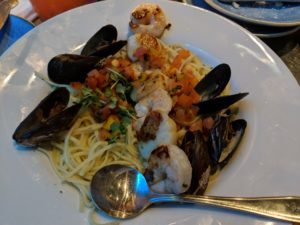 Linguine from Coral Reef Restaurant