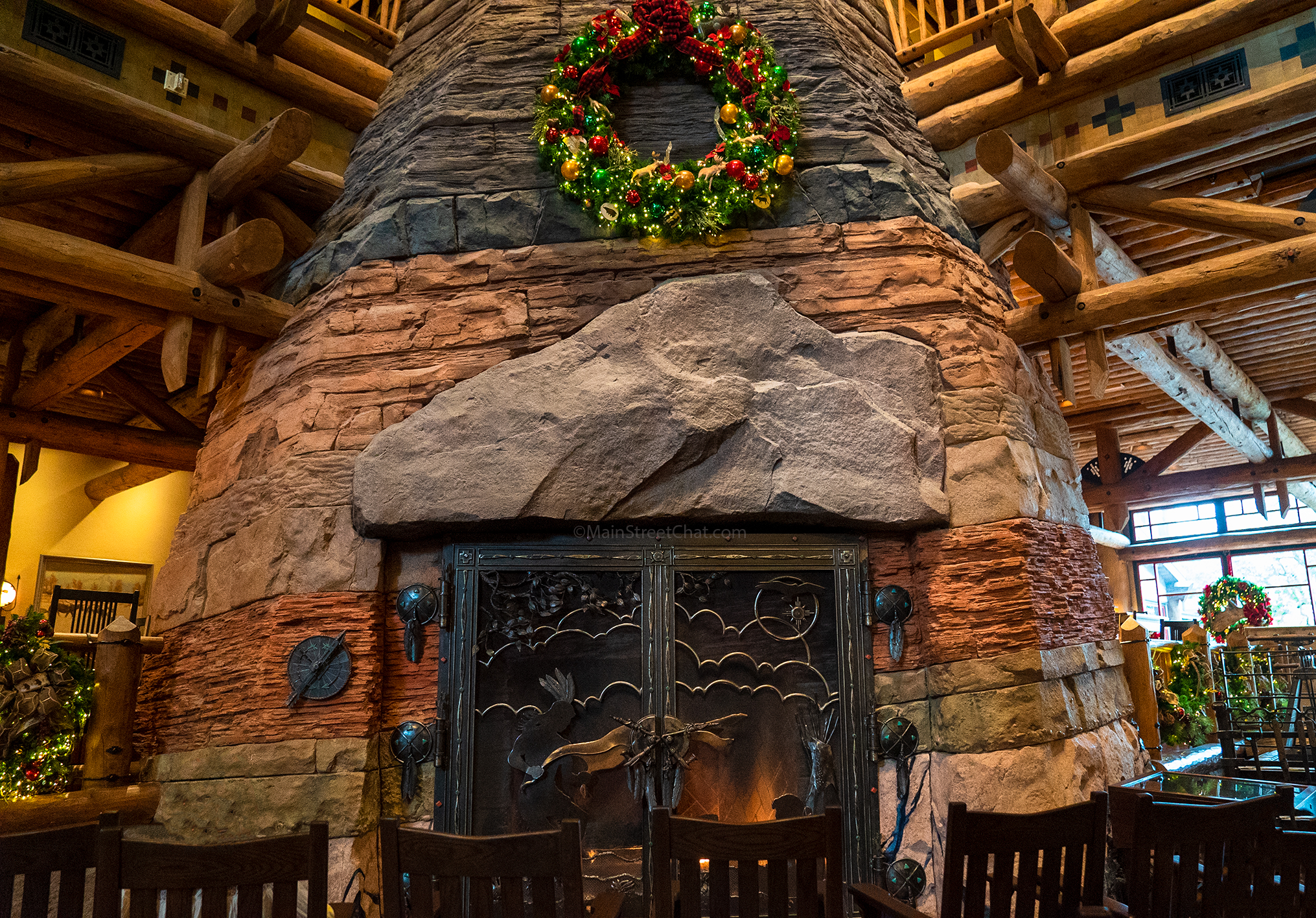 Wilderness Lodge Main Fireplace